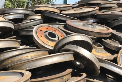 Gestión de metales - Ruedas de tren de hierro